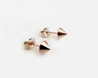 Tiny Spike Earrings, spike earrings, spike studs, tiny spike studs