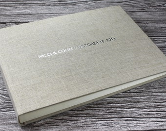 Personalised Natural Oatmeal Linen Photo Album – 5 Sizes Available