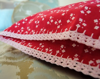 Pillowcase with Crochet Lace Trim