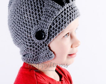 Handmade Knight Helmet Hat with Moveable Visor Kids Adults Fun Hat