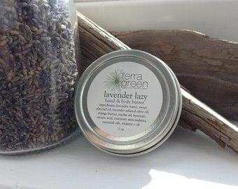 2 oz lavender lazy body cream, for her, for him, body cream, lavender scent, natural