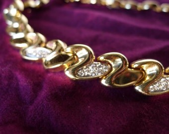 Diamonds & Gold 14K Choker Modern Diamonds Gold Links