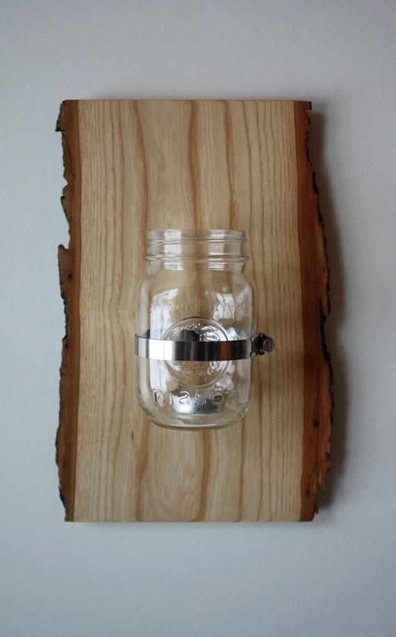 Wall Mounted Mason Jar Sconce Candle Holder Vase or