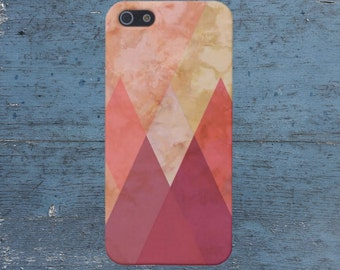 Red Marble x Geometric Triangles Case for iPhone 6 6 Plus iPhone 7  Samsung Galaxy s8 edge s6 and Note 5  S8 Plus Phone Case, Google Pixel