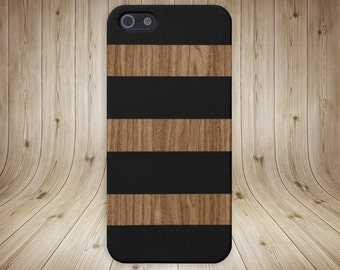 Dark Wood Black Stripe Phone Case,iPhone X, iPhone 8 Plus, Protective iPhone Case, Galaxy s8, Samsung Galaxy Case, Note 8, CASE ESCAPE