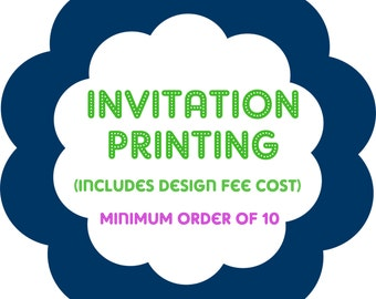 PRINTING of INVITATIONS from Twenty Toes Designs