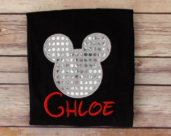 Mickey Mouse Sequin Top ~ Minnie Mouse Sequin Top ~ Customize in any colors!