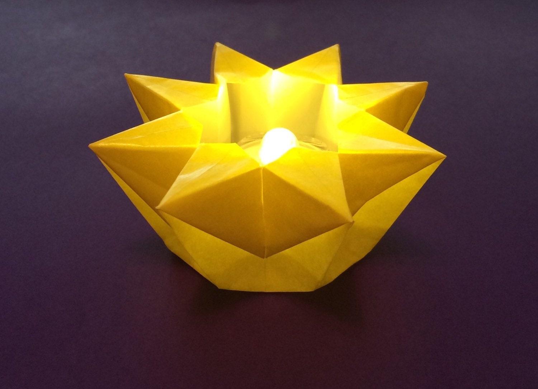 Origami Star Votive - photo#23
