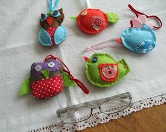 cute birds of felt for decorating