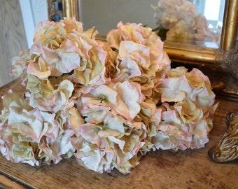 Antique Peach Artificial Hydrangeas