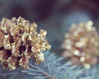 mini gold pinecone, pinecone wedding decor, woodland wedding favor, gold pinecone, mountain wedding decor, woodland aisle decor, forest, eco