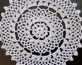 Vintage off white crochet doily