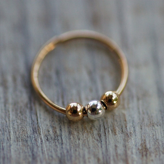 tiny cartilage earring tiny nose hoop small gold ball hoop