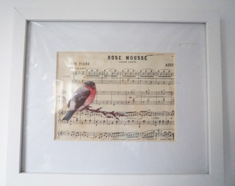 Mixed media music collage