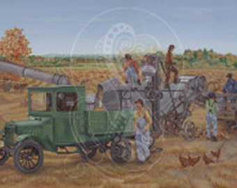 Harmony of the Harvest - Canvas Acrylic Painting Reproduction