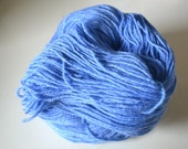 Hand Dyed Superwash Bluefaced Leicester/Bamboo Fingering/Sock Knitting Crochet Baby Blue