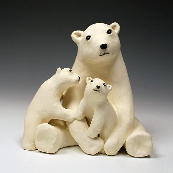 la famille ours en c ramique un original un dune argile. Black Bedroom Furniture Sets. Home Design Ideas