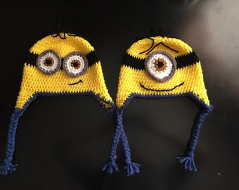 Despicable Me Minion hat with earflaps