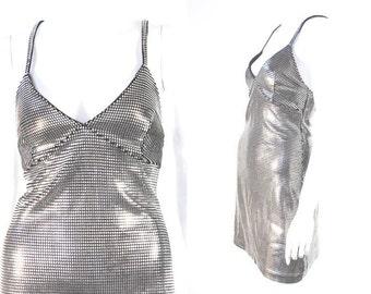 Paco Rabanne Vintage Metal Silver Dress