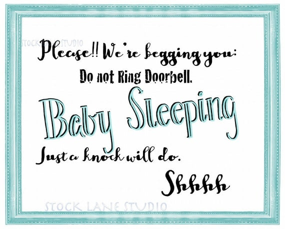 photo about Printable Baby Sleeping Sign Front Door identify High definition wallpapers printable boy or girl sleeping indicator entrance doorway