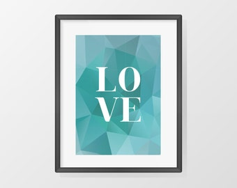 "Poster ""LOVE"" - format A4"