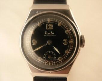 """Exita """"Bruchsicher"""" Wrist Watch 15J Durowe All Stainless Steel Bauhaus Germany Ca 1930's"""