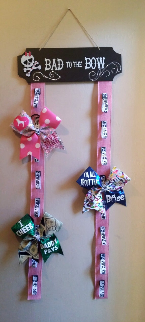 cheer bow wall hanger cheer bow