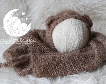 alpaca&silk, newborn blanket/wrap