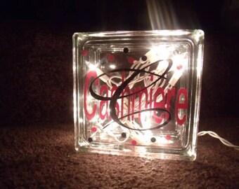 Custom glass blocks etsy for Custom acrylic blocks
