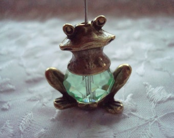 2 Big Frog Cap Settings. Quality Antiqued Bronze. 24mm Wide. Unique Earrings Or Pendants. Item Out of Production!  ~USPS Shipping Rates/ OR