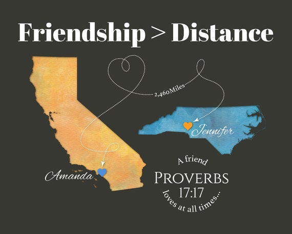 Quotes On Moving Away From Friends: Personalized Gift For Best Friend Moving Away Gift For