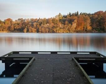 Autumn morning at Bolam lake, Northumberland