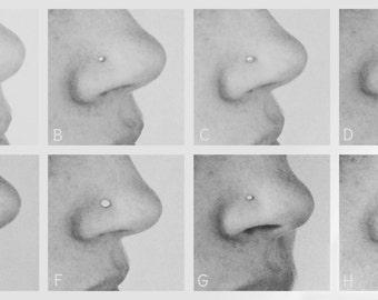 Nose piercings - choose between 8 possibilities!