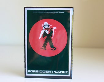Forbidden Planet Poster Art displayed in Resin Wood Block