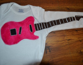 Onsie with Applique Guitar