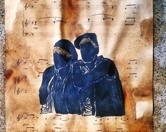 Broadway Sheet Music Art