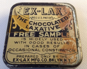 Ex-Lax Tin from the 30's