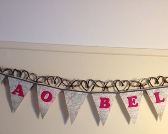 Ciao Bella Vintage Map of Italy Bunting