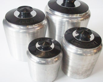 Vintage Kromex Canister Pieces / canisters