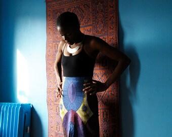 MIRIAM High Waisted Pencil Skirt // Wax Print