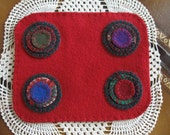 Bright Red Penny Rug, FAAP, OFG, HaFair, CIJ