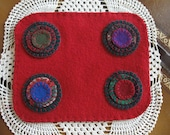 Bright Red Penny Rug, FAAP, OFG, HaFair, CYBERFAAP2015