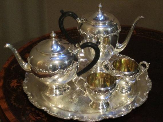 Primrose Plate E P Copper B M Mounts Silver Plated Tea