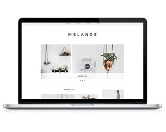 Wordpress Theme - Melange - Responsive Wordpress Blog Design - Wordpress Template - Wordpress Theme Feminime - Wordpress Theme Modern