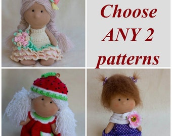 Discount Clothed Doll Pattern Package CHOOSE ANY 2