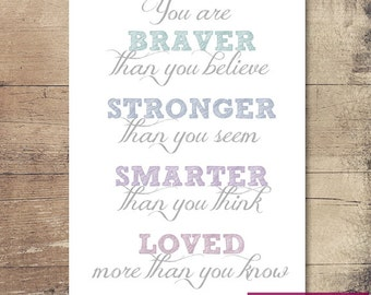 You are, Printable Wall Art, Printable quotes, Inspirational quote, Instant Download
