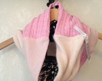 Pink Cowl with black floral