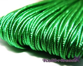 1x 3m Czech Soutache Braid 3 mm Green