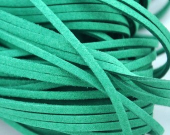 10 meters of  green Faux Leather Ribbon Cords String--- 2.5mm---S0211