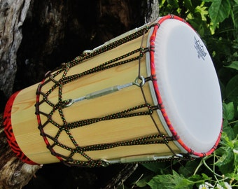 "Ashiko Drum. 10""x18"" Ashiko with remo synthetic drumskin. view at http://youtu.be/Yg9-g9hA1Rs."